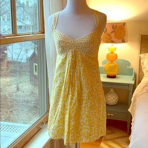 Sunny Yellow Mini Dress